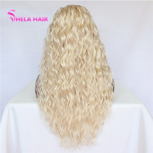 #613 Blonde 4x4 Lace Closure Wig Natural Wave