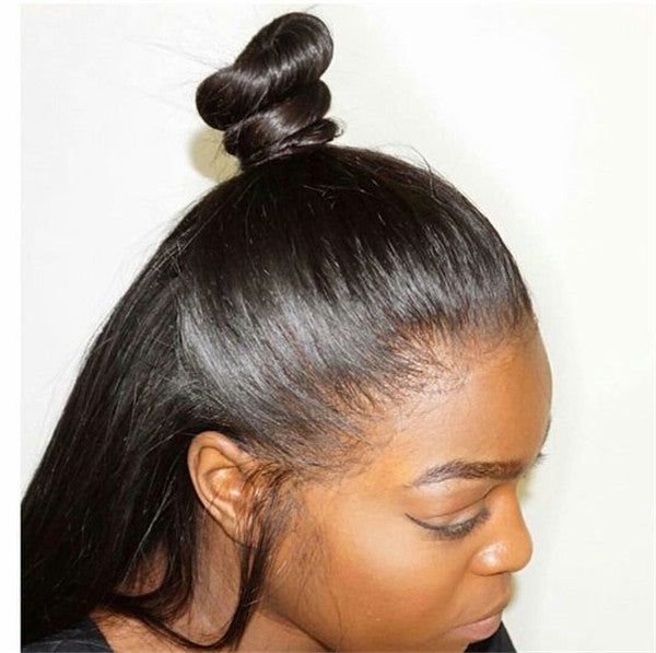 Preplucked 360 Lace Wig Straight can do ponytail 150% 180% Density