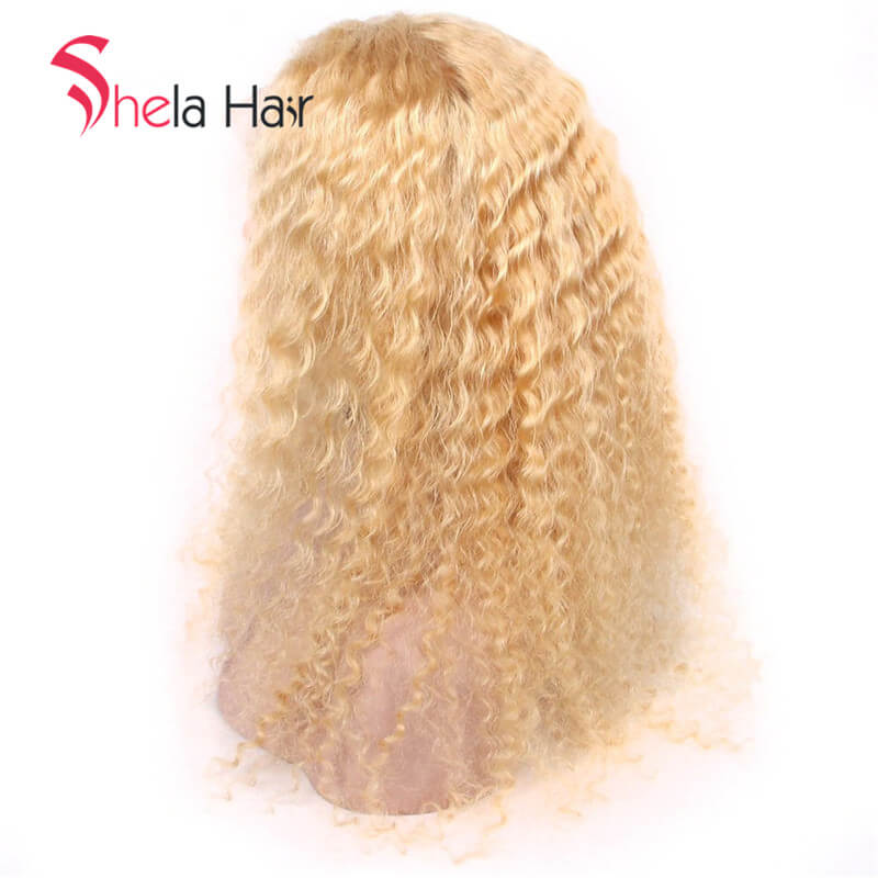 Transparent Full Lace Wig 150% Density #613 Blonde Deep Curl Shelahair