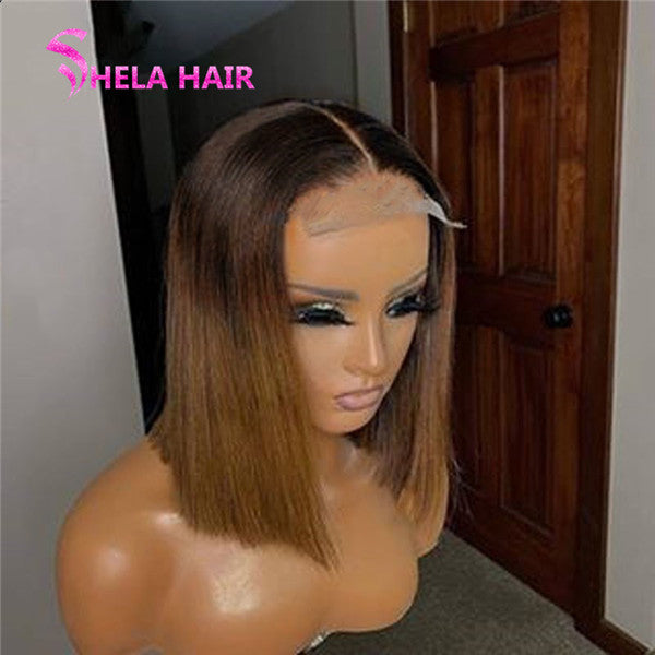Highlight Bob Wig Glueless Lace Closure/ Frontal Wig Straight 103