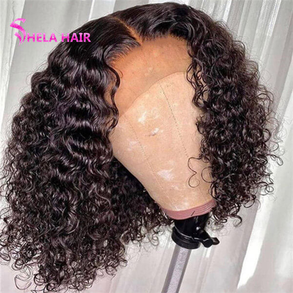 Curly 4x4 Lace Closure Bob Wigs