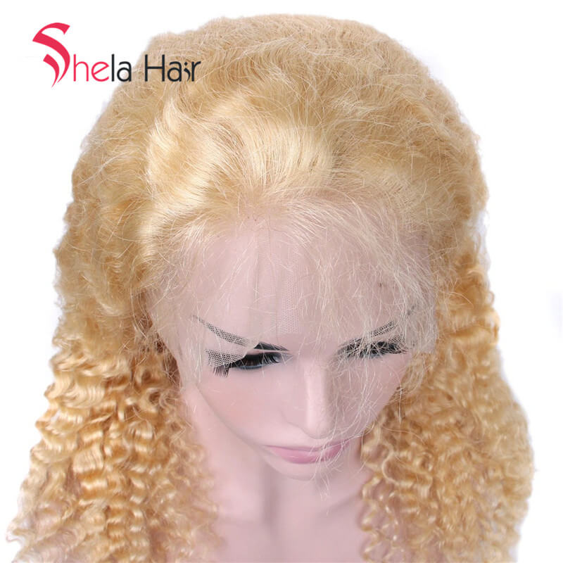Transparent Full Lace Wig 613 Blonde Deep Wave
