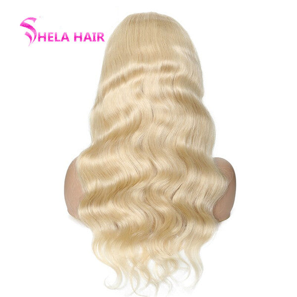 #613 Blonde Transparent Lace Front Wig 150% Body Wave Shela Hair