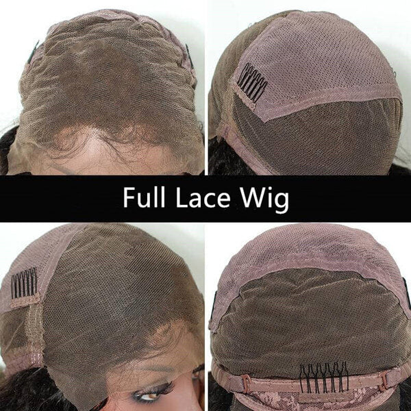Natural Wavy Preplucked hairline with baby hair Full Lace Wig