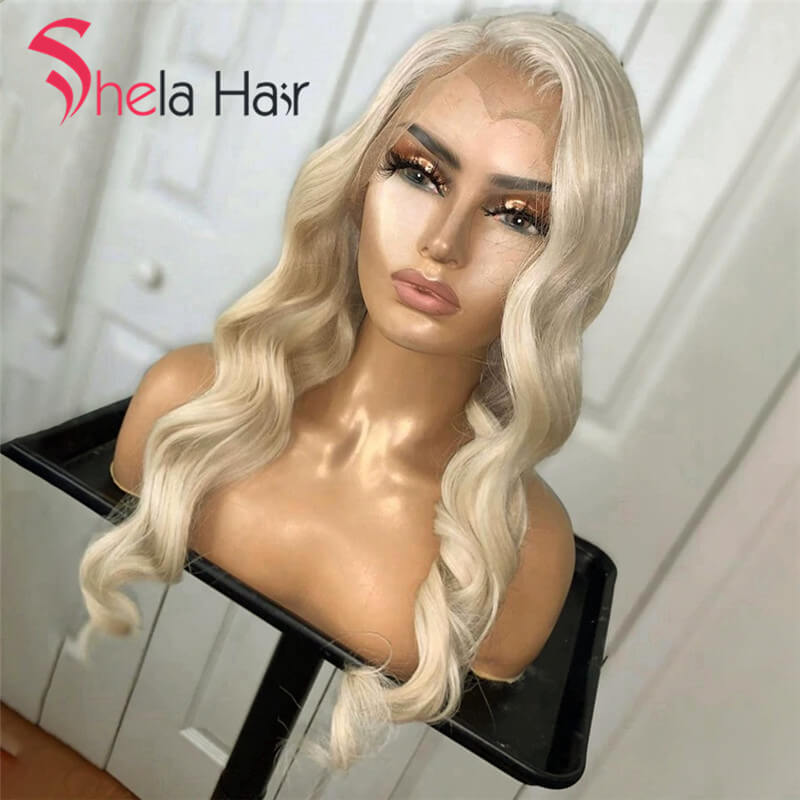 Transparent Full Lace Wig #613 Blonde Loose Wave 150% Density Shela Hair
