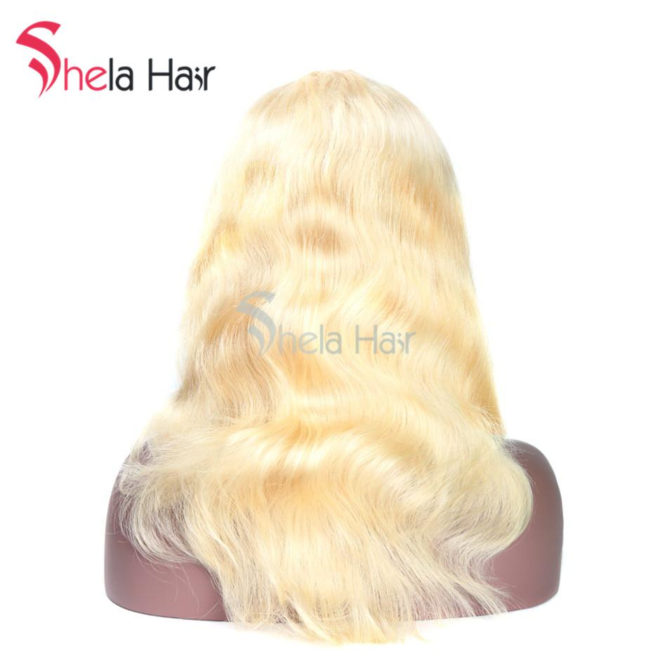 Shela Hair #613 1b/Blonde Colorful Full Lace Wig Straight/Body Wave