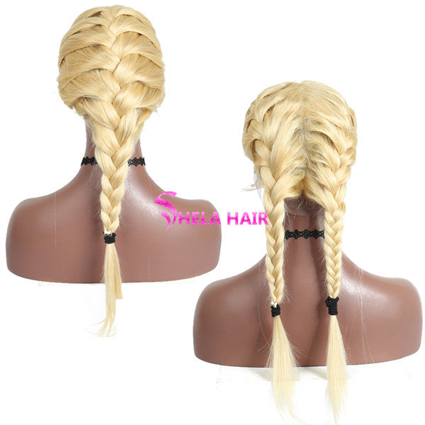 #613 Blonde Straight 360 Wig, Can do bun, ponytail High Density