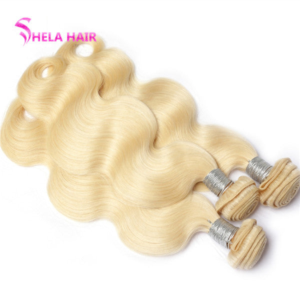 #613 Blonde Body Wave Hair Weave Human Hair Bundles