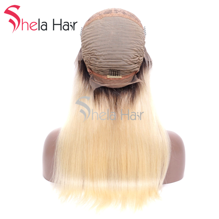1b/613 Lace Front Wig With Bang human hair wig