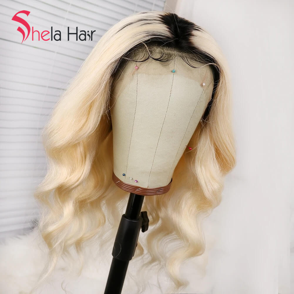 Shela Hair Full Lace Wig 1b/613 Blonde Body Wave 150% Density