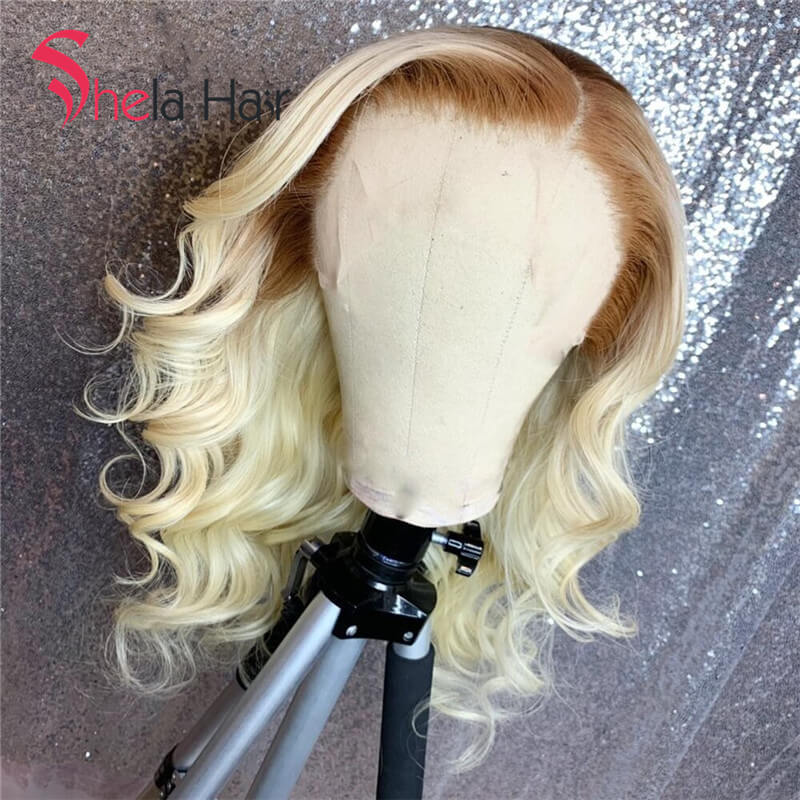 Full Lace Wig 4/613 Transparent Lace Blonde 150% Loose Wave Shela Hair