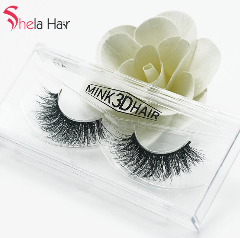 1Pair Charming 3D Mink Eyelashes 15mm Grafting False Eyelashes Makeup Epackage Free shipping