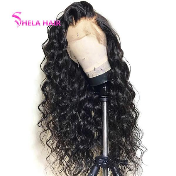Loose Curl Pre Plucked Glueless Lace Wig With Natural HairLine