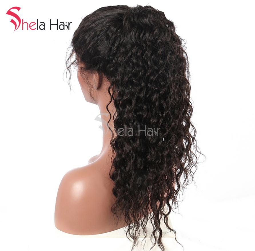 Shela Hair Glueless Full Lace Wig Preplucked High Density Wigs 180% 200% 220% Deep Wave