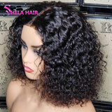Shela Hair Bob Wig Curl 13x6 Lace Front Wig 8-14inches 180% Density