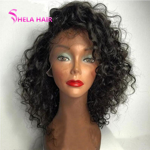 Natural Wavy Side Part Short Cut Wig