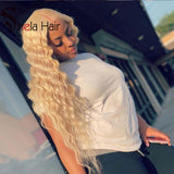 High Density Transparent Full Lace Wig #613 Blonde 180% 200% Ocean Deep Shela Hair