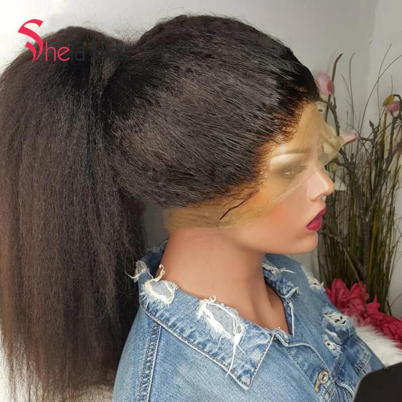 High Density Wigs Full Lace Wig 180% 200% 220% Kinky Straight Shela Hair
