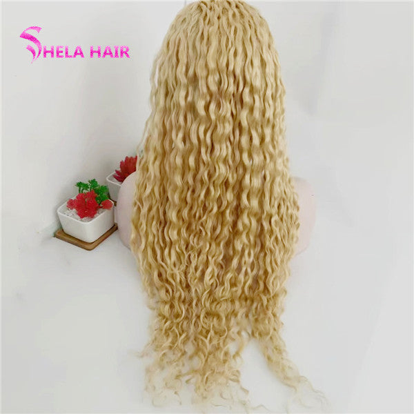 #613 Blonde 4x4 Lace Closure Wig Curly