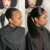 Pony Tail Wrap Around / Drawstring Straight Ponytail Human Hair