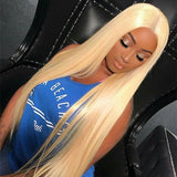Shela Hair Transparent Full Lace Wig #613 Blonde Straight 180% 200% High Density