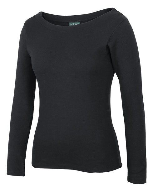 JB's C of C Ladies L/S Boat Neck Tee