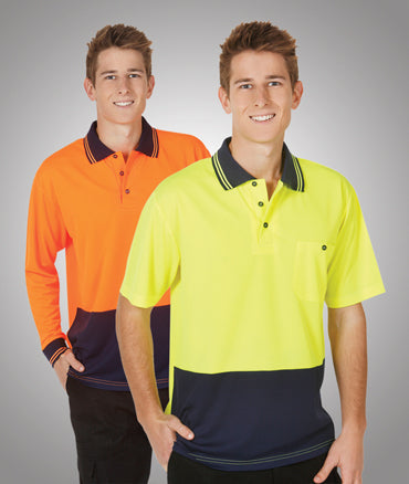 Blue Whale Light Weight Hi Vis Cooldry Polo S/S - Workwear - Shirts & Jumpers - Best Buy Trade Supplies Direct to Trade