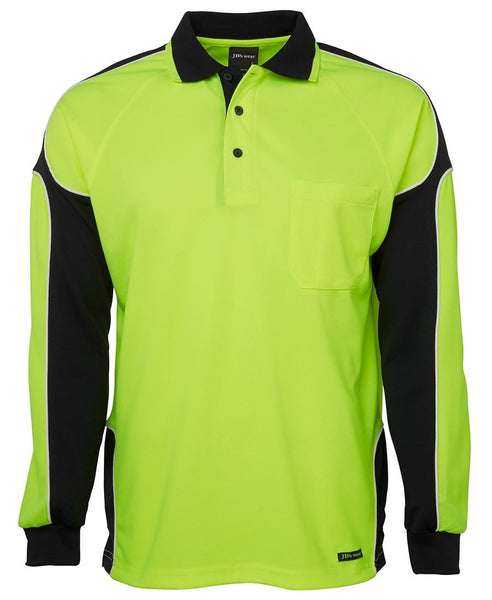 JB's Hi Vis Long Sleeve Panel Polo - Hi Vis Clothing - Best Buy Trade Supplies Direct to Trade
