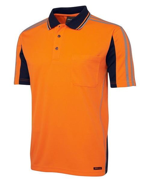 JB's Hi Vis Short Sleeve Arm Tape Polo - Hi Vis Clothing - Best Buy Trade Supplies Direct to Trade