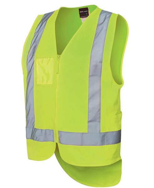 JB's Hi Vis Zip Drop Tail H Pattern (D+N) Vest - Hi Vis Clothing - Best Buy Trade Supplies Direct to Trade