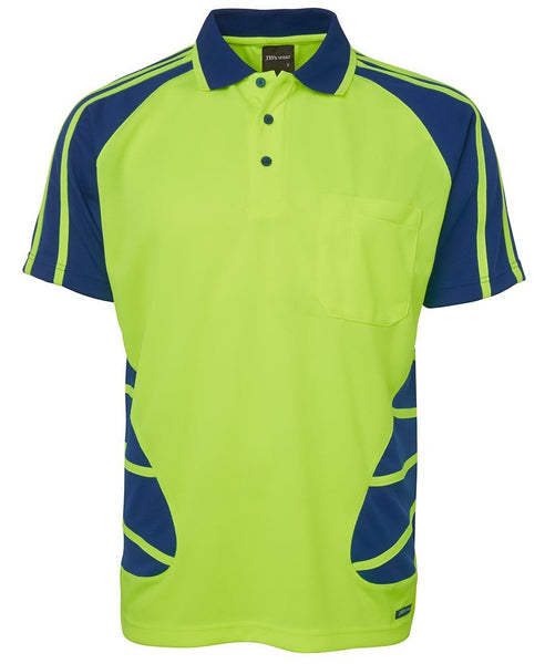 JB's Hi Vis Short Sleeve Spider Polo - Workwear - Shirts & Jumpers - Best Buy Trade Supplies Direct to Trade