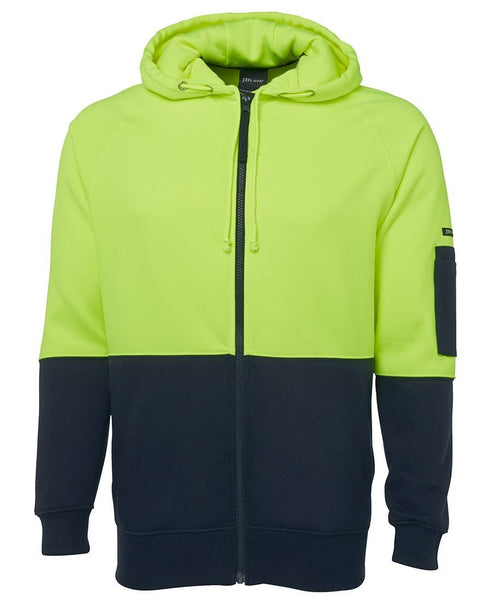 JB's Hi Vis Full Zip Fleecy Hoodie - Workwear - Shirts & Jumpers - Best Buy Trade Supplies Direct to Trade