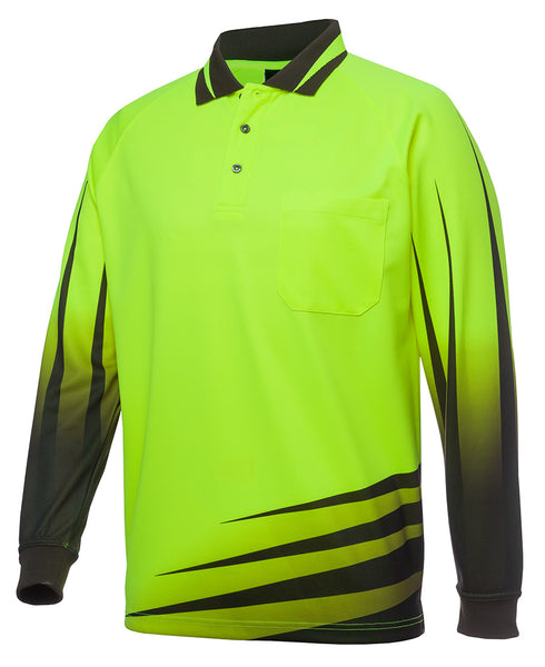 JB's Hi Vis Long Sleeve Rippa Sub Polo