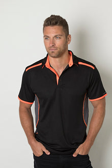 Be Seen Polo Shirt with Contrast Shoulder Panel