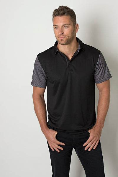 Be Seen Polo With Contrast Sublimated Striped Sleeves - Workwear - Shirts & Jumpers - Best Buy Trade Supplies Direct to Trade