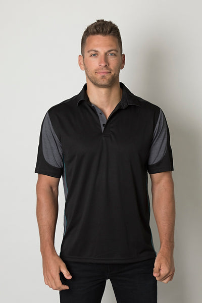 Be Seen Men's 100% Polyester Cooldry Heather and Sports Interlock Fabric Polo - Workwear - Shirts & Jumpers - Best Buy Trade Supplies Direct to Trade