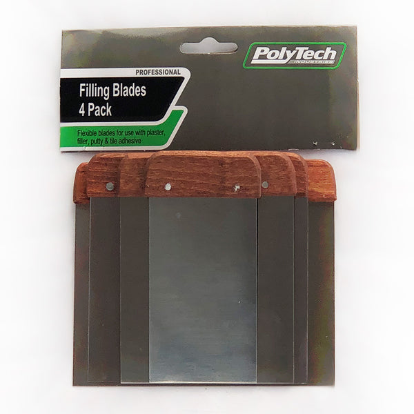 Polytech Filling Blades (Flexible) 4 pack ( Ask Us For A Bulk Deal) - Paint Tools & Accessories - Best Buy Trade Supplies Direct to Trade