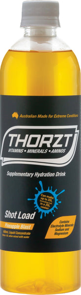 THORZT LIQUID CONCENTRATE PINEAPPLE BLAST 600ML BOTTLE - Thorzt Hydration - Best Buy Trade Supplies Direct to Trade