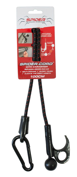 TradeMark Spider Cord with Carabiner 100cm