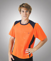 Blue Whale Cooldry Hi Vis Side Panel  T-Shirt Orange - Workwear - Shirts & Jumpers - Best Buy Trade Supplies Direct to Trade