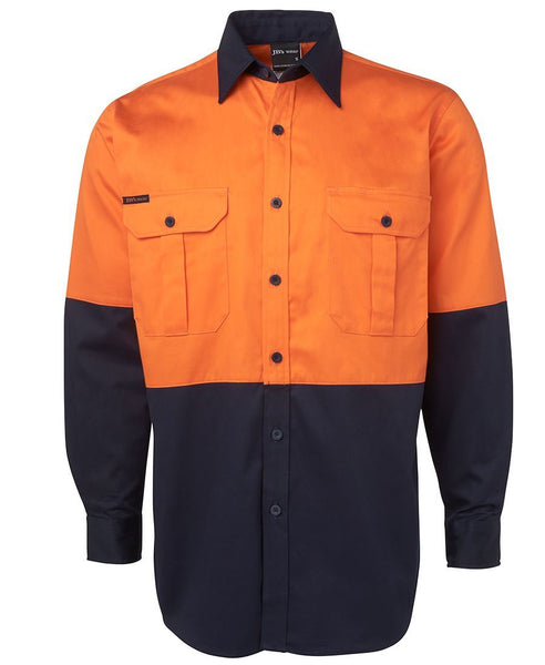 JB's Hi Vis 190g Long Sleeve Shirt - Hi Vis Clothing - Best Buy Trade Supplies Direct to Trade