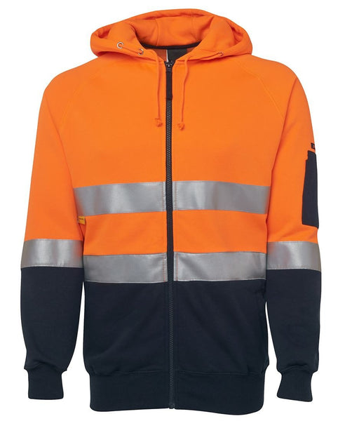 JB's Hi Vis (D+N) Full Zip Fleecy Hoodie - Workwear - Shirts & Jumpers - Best Buy Trade Supplies Direct to Trade