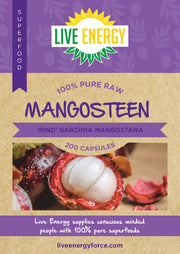 100% Pure Raw Mangosteen,  200 capsules