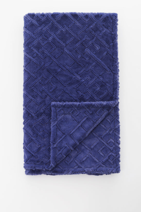 Steel Blue Maze Child Blanket