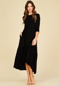 High Low Dress W/ Ruffle Hem