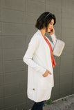 Hidden Button Ivory Cardigan
