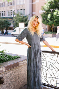 Juliette Lace Maxi In Slate