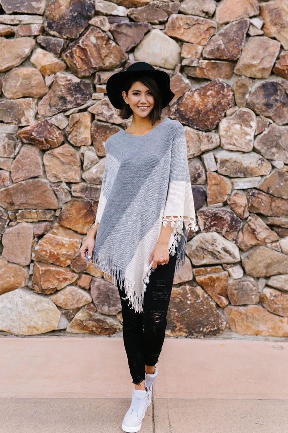 Make The Grade Fringed Poncho