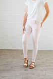 Moto Jeggings In Pale Pink - In House