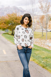 Oversized Animal Print Top